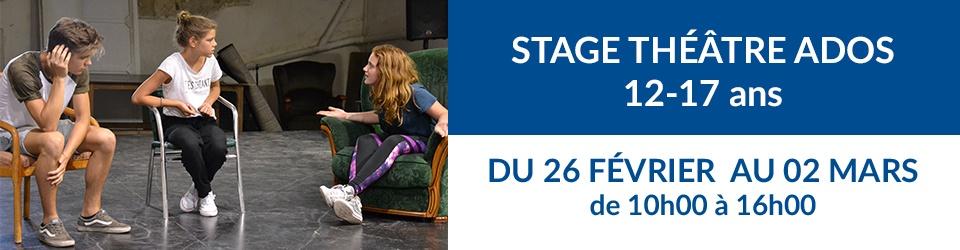 Bandeau stage théâtre ADOS